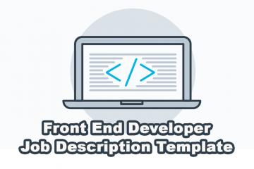 JavaScript and Front End Developer Job Description Template